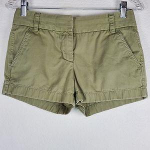 J. Crew Chino weathered olive shorts sz: 00
